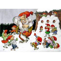 5-pack Julkort Snöboll