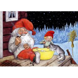 5-pack Julkort Tomtar