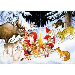 5-pack Julkort Matar Djuren