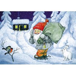 5-pack Julkort Tomten Kommer