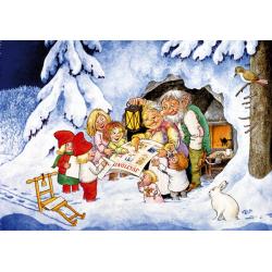 5-pack Julkort Jultidningar