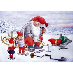 5-pack Julkort Isfiske